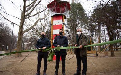 Új elemekkel bővült a debreceni Békás-tó melletti játszótér